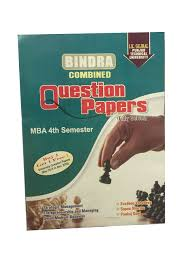 buy bindra combined question papers for mba 4th semester pack of 2