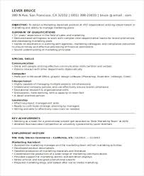 marketing resume format template 7 free word pdf format