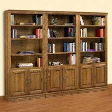 Wooden Bookcase With Doors A U0026 E Solid Oak Britannia Wood Bookcase With Doors Hayneedle