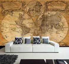 old world map wall mural worldmap wall murals and wallpaper wall removable sticker old vintage golden world map vinyl mural