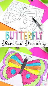 spring butterfly directed drawing directed drawing art