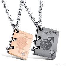 girl necklace size images Wholesale boys girls love heart stainless steel pendant couple jpg