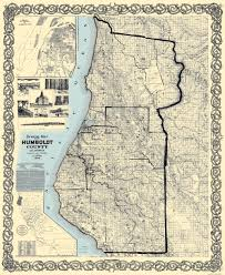 Old United States Map by Old County Map Humboldt California Landowner 1898