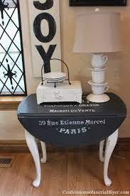 side table paint ideas drop leaf table makeover confessions of a serial do it yourselfer