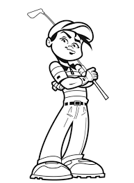 awesome golfer sports coloring pages sport coloring pages of