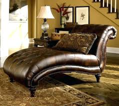 Tufted Leather Chaise Oversized Double Chaise Lounge Chair Chairs Indoor Outdoor