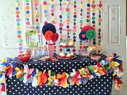 Circus Candy Buffet Ideas by Carnival Party Paper Backdrop Circus Garland Backdrop