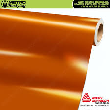 sw900 supreme wrapping vinyl film gloss pearl gold orange
