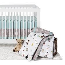 sweet jojo designs outdoor adventure 11pc crib bedding set gray