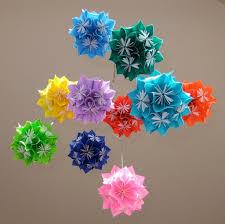 Flower Ball Rainbow Origami Flower Ball Mobile Aftcra