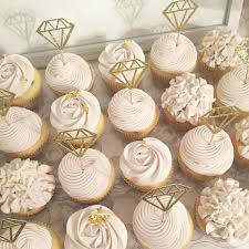 bridal cupcakes bridal cupcakes rustic shower hydrangea roses diamond ring