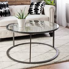 Coffee Table With Metal Base by Cool Round Glass Coffee Table Metal Base Coffee Table Contemporary