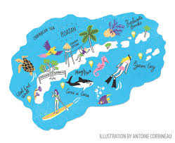 Map Of Roatan Honduras Best Scuba Diving Sites And Thing To Do In Roatan Sport Diver