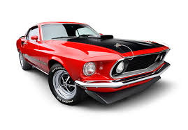 Mustang Red And Black 1969 Ford Mustang Mach 1 Super Cobra Jet Red And Black 3 4 Front