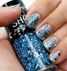 maybelline color show polka dots nail polish in blue marks the