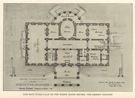 floor plan of the white house washington d c drawings