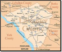 map of lancaster county pa towns villages in lancaster county pa