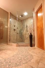 river rock bathroom ideas river rock floor tile bathroom traditional with bath remodel