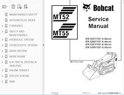 bobcat mt52 mt55 mini track loader service manual pdf repair