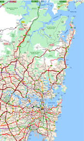 atlas map of australia atlas map showing the cities of sydney new south wales australia