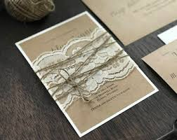 shabby chic wedding invitations handmade rustic wedding invitation etsy