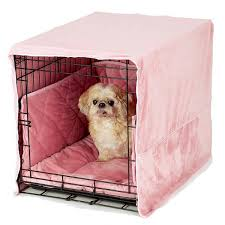 dog crate dog crate cover puppies pinterest crate plush dog crate cover and bed pink crate bed mats covers