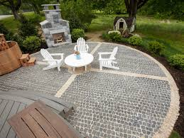 Stone Patio Images by How To Install A Cobblestone System How Tos Diy