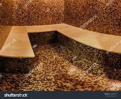 Turkish Bench Marble Bench Tiled Turkish Sauna Hamam Stock Photo 412065652