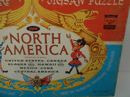 United States Map Puzzle by Vintage 1960s Map Puzzle Usa Alaska Hawaii Shaped Pieces Jaymar