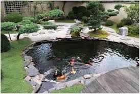 backyards appealing garden fish pond with water fountain home