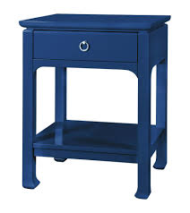 Navy Side Table Harlow 1 Drawer Side Table In Navy Design By Bungalow 5 Burke Decor