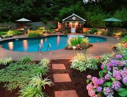 Beautiful Pool Backyards 7 Best Beautiful Pool Landscapes Images On Pinterest Gardens