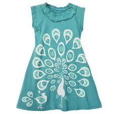 amazon com wee urban girls peacock dress in sizes 2 7 8 playwear