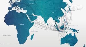 Virgin Atlantic Route Map Garuda Indonesia Bali Aero Travel