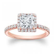 pink gold engagement rings 14k gold halo diamond engagement ring