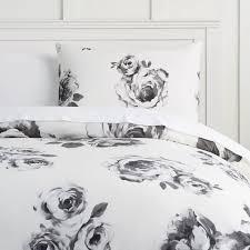 Betty Boop Duvet Set The Emily U0026 Meritt Bed Of Roses Duvet Cover Sham Black U0026 White