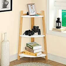 Amazon Com Langria Living Storage by Amazon Com Salt Corner Shelf In Chrome White L Fits Under A