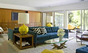 interior decoration living room amusing upholstered solid blue