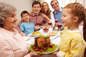 multi generational thanksgiving celebration