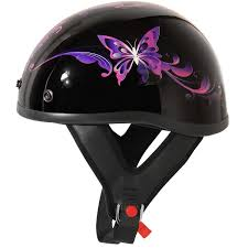 Comfortable Motorcycle Helmets Amazon Com Outlaw T 70 Purple Butterfly Glossy Motorcycle Half
