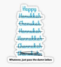 hanukkah stickers happy hanukkah stickers redbubble