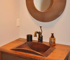 Copper Bathroom Faucet by Large Drop In Trough Sink Copper Sinks Online