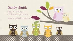 childcare business cards girly child care and baby sitting business cards girly business