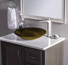 low profile bathroom sink novatto low profile glass circular vessel bathroom sink reviews