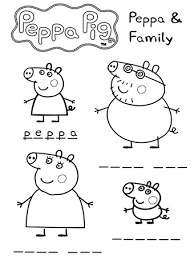 peppa pig print colour abc kids