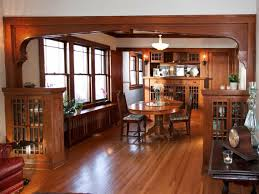 craftsman style dining room with original woodwork 50752 house