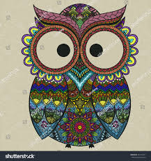 royalty free pattern boho ornamental owl 324714251 stock photo