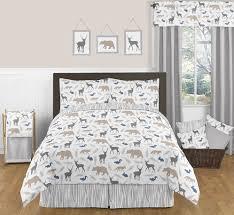 Forest Bedding Sets Woodland Animals 3pc Boys Bedding Set By Sweet Jojo