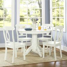 5 pc round pedestal dining table white pedestal dining table set alanho me