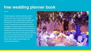 free wedding planner book wedding planners